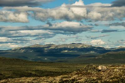 Auf dem Weg zu Oskampen-Hütte - Blick nach Rondane