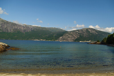 Baden im Fjord  von Thorsten