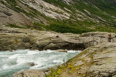 Nigardsbreen - reißender Fluß