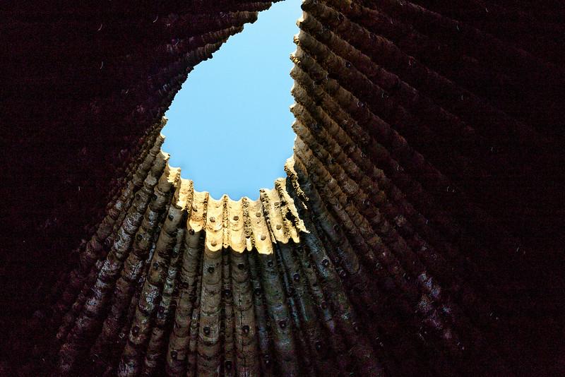 Bruder-Klaus-Kapelle Wachendorf: Öffnung zum Himmel (Peter Zumthor 2007)
