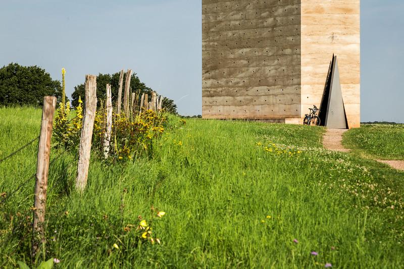 Bruder-Klaus-Kapelle Wachendorf von Südosten, Detail (Peter Zumthor 2007)