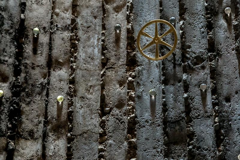 Bruder-Klaus-Kapelle Wachendorf: Radsymbol innen (Peter Zumthor 2007)