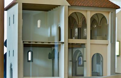 Freyburg, Schloss Neuenburg. Modell der Burgkapelle