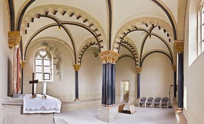 Freyburg, Schloss Neuenburg. obere Burgkapelle, 270°-Panorama