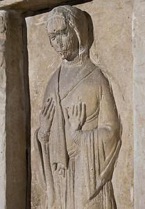 Gernrode, St. Cyriakus, heiliges Grab, Westseite, Maria Magdalena, Detail