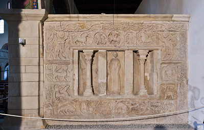 Gernrode, St. Cyriakus, heiliges Grab, Westseite