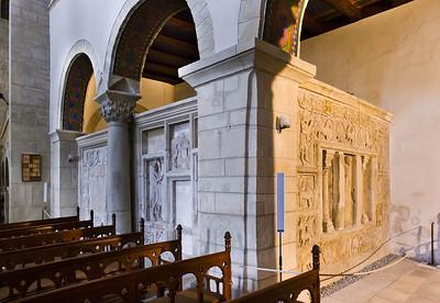 Gernrode, St. Cyriakus, Blick auf heiliges Grab