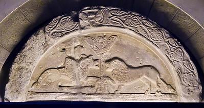 Gernrode, St. Cyriakus: Tympanon aus Alsleben (Anf. 12. Jh.)