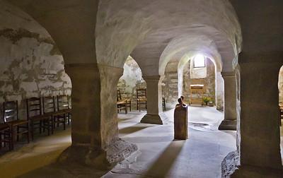 Gernrode, St. Cyriakus, Ostkrypta (älteste Hallenkrypta D.)