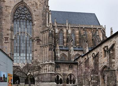 Halberstadt, Dom. Detail der Südfassade