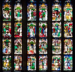 Halberstadt, Dom. Johannesfenster (Evgl., um 1420), Nordosten des Chorumgangs