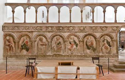 Halberstadt, Liebfrauenkirche. südl. Chorschranke: Maria und Apostel (um 1210)