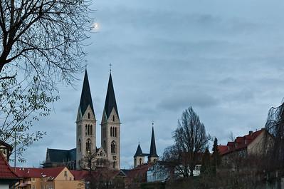 Halberstadt, Dom in Ferne von Nordwesten