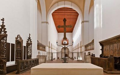 Halberstadt, Liebfrauenkirche. Inneres vom Chor nach Westen