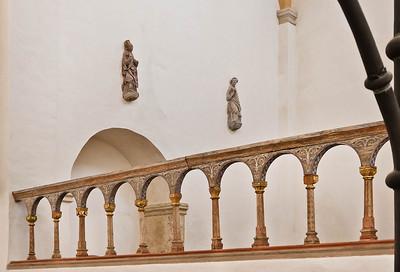 Halberstadt, Liebfrauenkirche. hölzerne Bogengalerie der nördl. Chorschranke, Chorseite