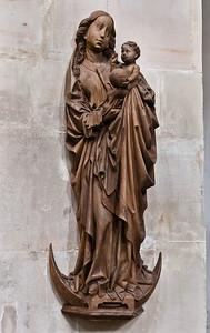 Hamersleben, St. Pankratius. Maria auf der Mondsichel (spätes 15.Jh.)