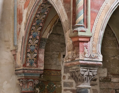 Hamersleben, St. Pankratius. Altarziborium, Detail (frühes 13.Jh.)