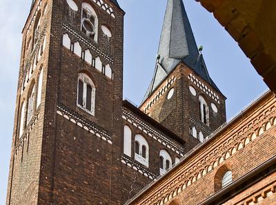 Jerichow, Stiftskirche: Ostseite des Westbaus