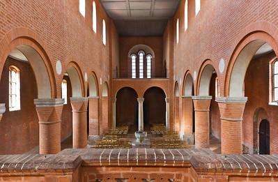 Jerichow, Stiftskirche: Blick durch Kirchenschiff von Chor nach Westen