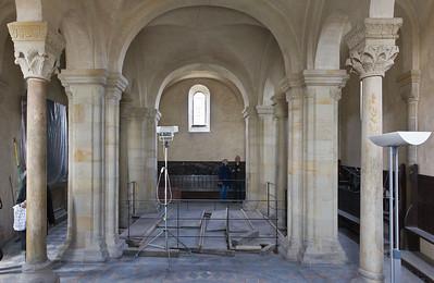 Landsberg/Saale, Doppelkapelle. Obere Kapelle, Mittelsschiff nach Westen