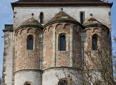 Landsberg/Saale, Doppelkapelle. Ansicht von Osten