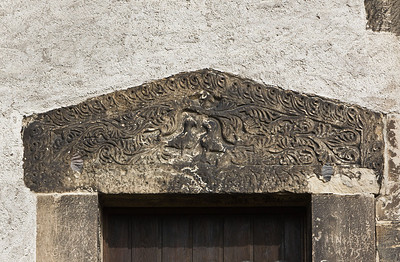 Landsberg/Saale, Doppelkapelle. Südportal, Detail