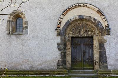 Landsberg/Saale, Doppelkapelle. Nordportal
