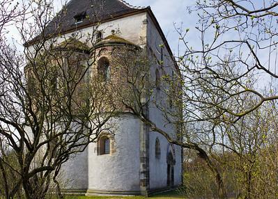 Landsberg/Saale, Doppelkapelle. Ansicht von Nordosten