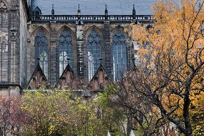 Magdeburg, Dom. Südfassade, Obergaden