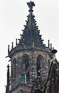 Magdeburg, Dom. Detail des nördlichen Westturmes
