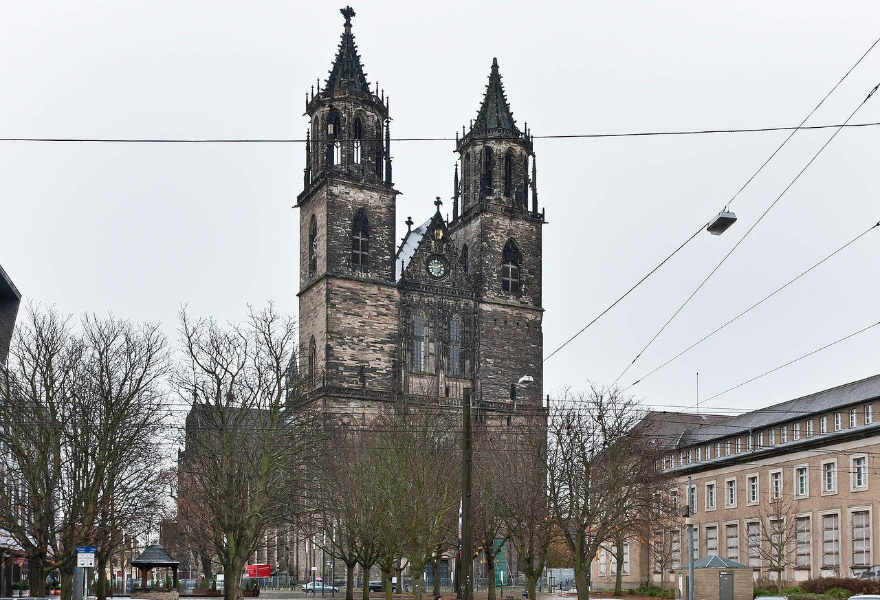 Magdeburg, Dom von Westen