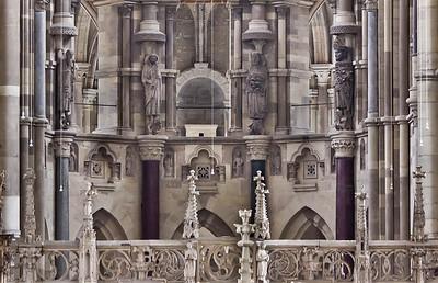Magdeburg, Dom. Sandsteinskulpturen Paulus, Petrus, Johannes d.T., Mauritius im Chor (um 1230?)
