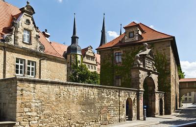 Merseburg, Blick auf Schloss von Nordwest