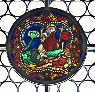 Merseburg, Dom, Vorhalle, Glasfenster-Medaillons, Auferstehung (um 1260)