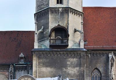 Naumburg, Markt, Stadtkirche St. Wenzel, Turmdetail