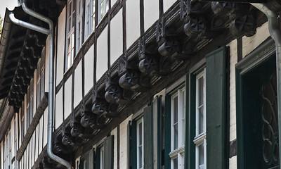 Quedlinburg: Fachwerk-Haus, Detail