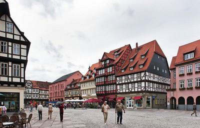 Quedlinburg: Marktplatz nach Süden