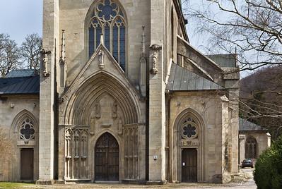 Kloster Schulpforta, Kirche. Westfassade