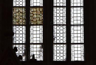 Kloster Schulpforta, Kirche. Originale Glasfenster in nördl. Chorwand