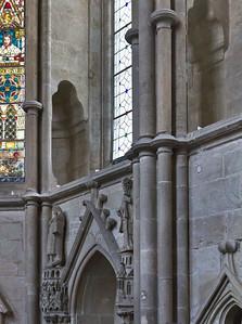 Kloster Schulpforta, Kirche. Chor, Wandnischen der südöstl. Chorwand