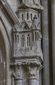 Kloster Schulpforta, Kirche. Chor, südl. Wandnische: Kleinarchitektur unter Bischof Udo