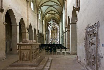 Kloster Schulpforta, Kirche. Blick nach Osten mit Tumba Georg von Meißens