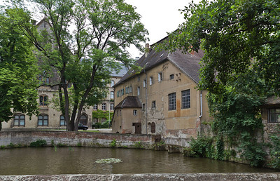Kloster Schulpforta, Blick auf Schulhauptgebäude und Klostermühle