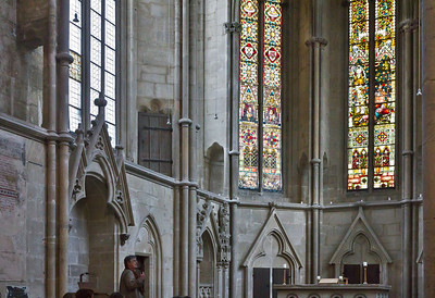 Kloster Schulpforta, Kirche. Wandnischen der nördöstl. Chorwand