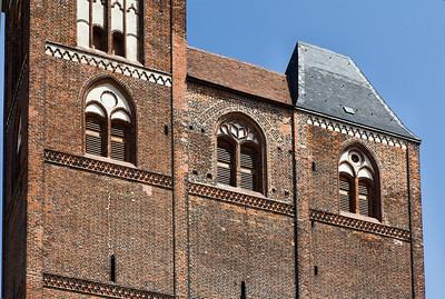 Tangermünde, Stephanskirche, Westfassade, Detail