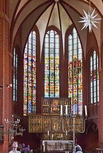 Werben, Johanniskirche, Chor mit Hochaltar