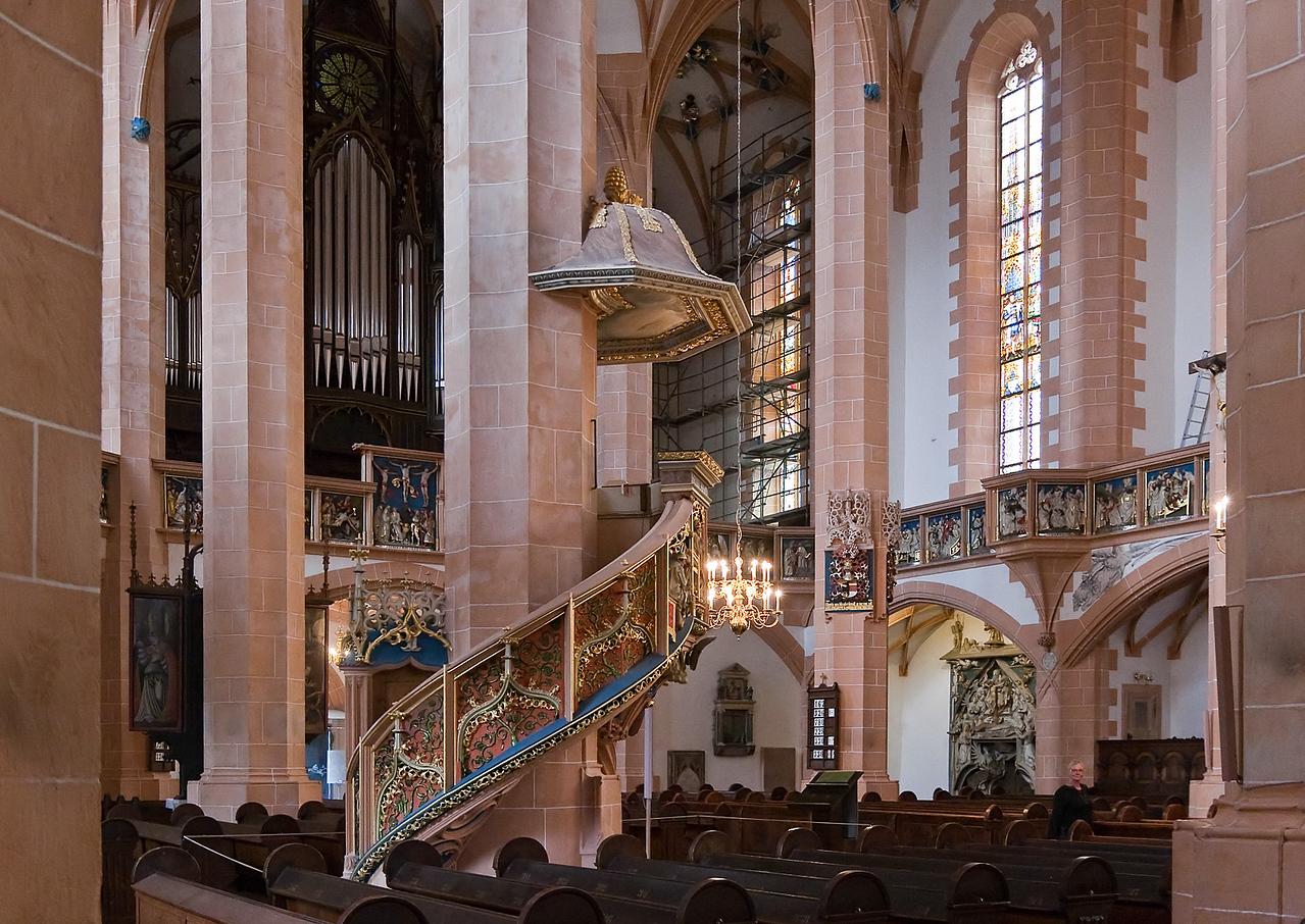 Annaberg, Sankt Annen, Kanzel (Franz Maidburg, 1516)