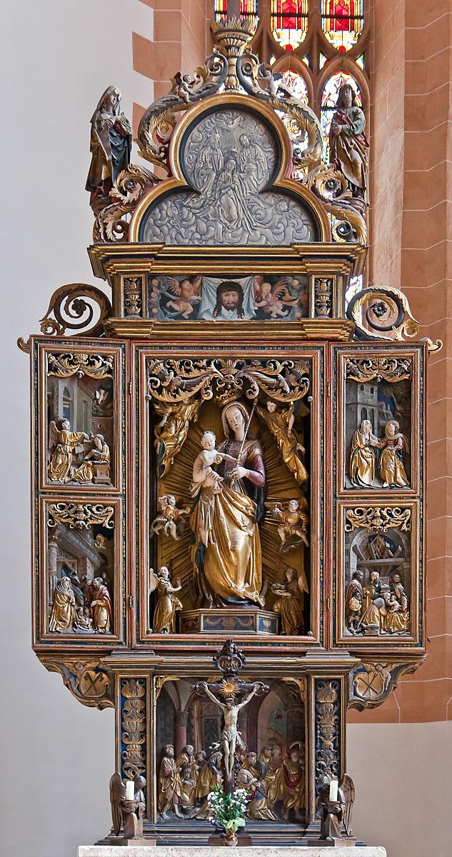 Annaberg, Sankt Annen, Münzeraltar (Christoph Walter I, 1522)