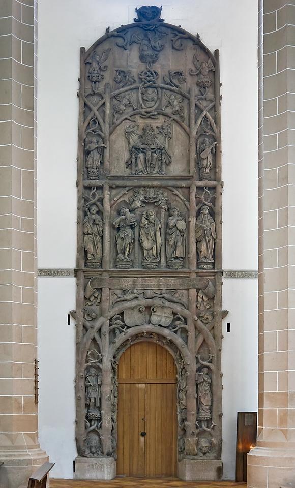 Chemnitz, Schlosskirche, ehem. Nordportal von Franz Maidburg (1525), tlw. Meister H.W. (1505)
