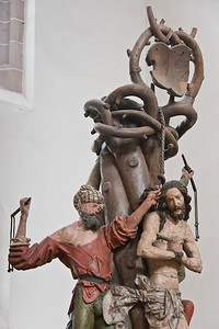 Meister H.W.: Geißelsäule, Chemnitz, Schlosskirche (1515)